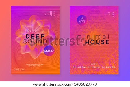 Techno event. Dynamic fluid shape and line. Energy discotheque cover set. Neon techno event flyer. Electro dance music. Electronic sound. Trance fest poster. Club dj party.