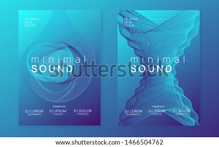 Techno event. Dynamic fluid shape and line. Energy show invitation set. Neon techno event flyer. Electro dance music. Electronic sound. Trance fest poster. Club dj party.