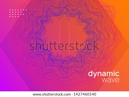 Techno event. Dynamic fluid shape and line. Geometric concert invitation template. Neon techno event flyer. Electro dance music. Electronic sound. Trance fest poster. Club dj party.