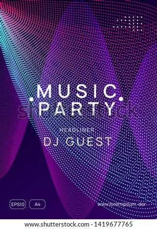 Techno event. Dynamic gradient shape and line. Trendy show banner template. Neon techno event flyer. Electro dance music. Electronic sound. Trance fest poster. Club dj party.