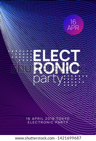 Techno event. Futuristic show magazine layout. Dynamic gradient shape and line. Neon techno event flyer. Electro dance music. Electronic sound. Trance fest poster. Club dj party.