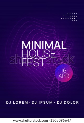 Techno event. Trendy concert banner design. Dynamic gradient shape and line. Neon techno event flyer. Electro dance music. Electronic sound. Trance fest poster. Club dj party.
