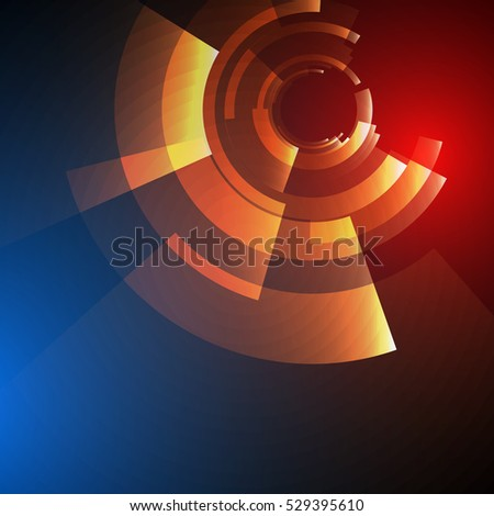 techno geometric vector circle