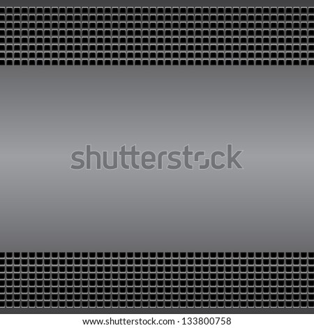 Technological background perforated metal surface  with vents. For internet sites, web user interfaces and applications. Vector Pattern