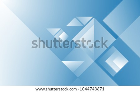 Technological geometric blue background. Vector design