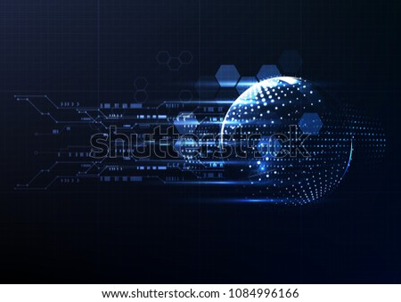Technological interface access global platform abstract background vector design #1084996166