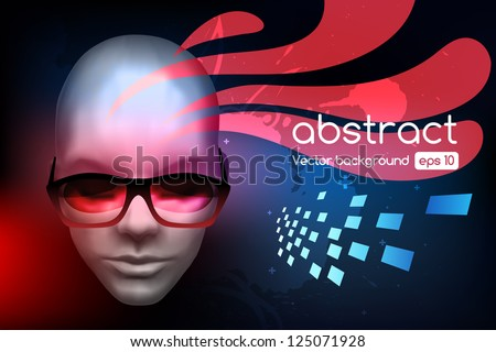 Technology abstract background, stylish graphic design template, hi tech elements - stock vector