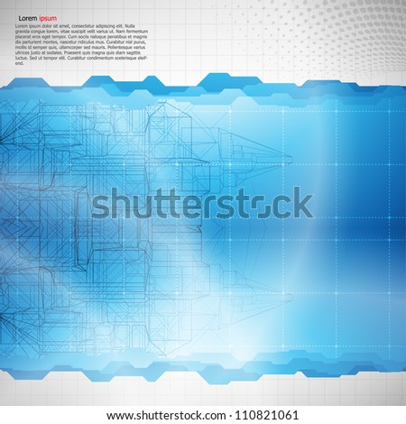 Technology abstract background. Vector.