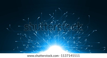 technology abstract of moving particules with energy trails. suitable for data, internet, energy, digital and technology themes.