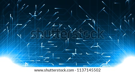 technology abstract of two source and moving particules with energy trails. suitable for data, internet, energy, digital and technology themes.