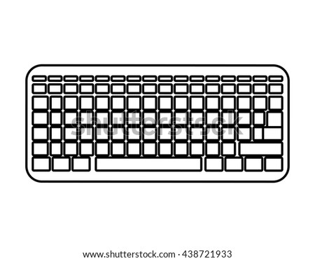 Technology and device concept. keyboard icon. Vector graphic #438721933