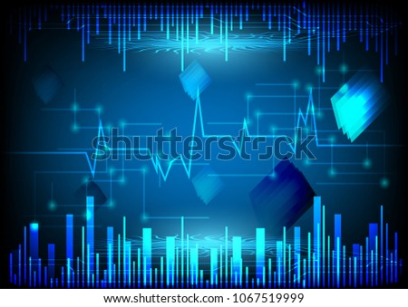 Vector circuit network diagram technology background design technology background abstract vector illustrations design blue lighting circuit futuristic wave style digital electronics technology malvernweather Choice Image