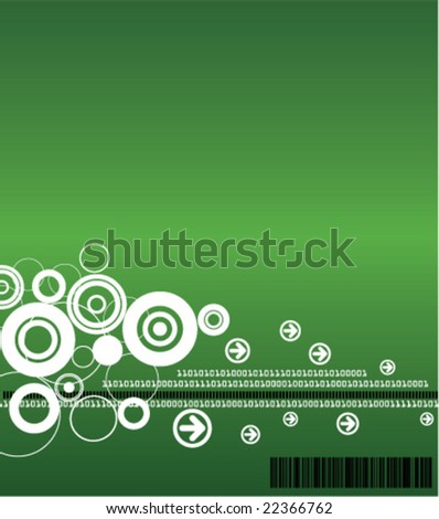 Technology Background (Available in Blue and Green) - stock vector