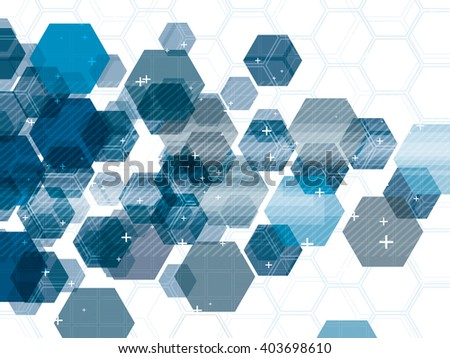 technology background blue