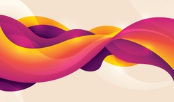 Technology background made of abstract fluid design in intense colors. Vector illustration.