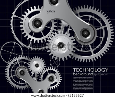 technology background with