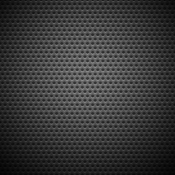 Technology background with seamless circle perforated carbon speaker grill texture for internet sites, web user interfaces (ui) and applications (apps). Vector Pattern