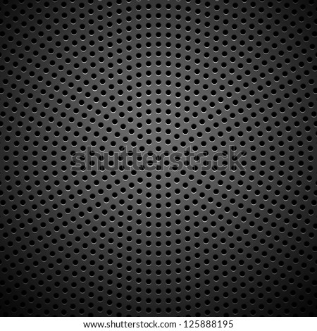 Technology background with seamless circle perforated carbon speaker grill texture for internet sites, web user interfaces (ui) and applications (apps). Vector Pattern. - stock vector