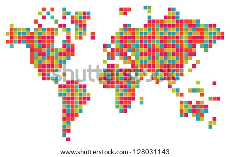 9 stylish vector world map vector download free vector art stock technology bits world map shape vector file layered for easy manipulation and custom coloring gumiabroncs Image collections