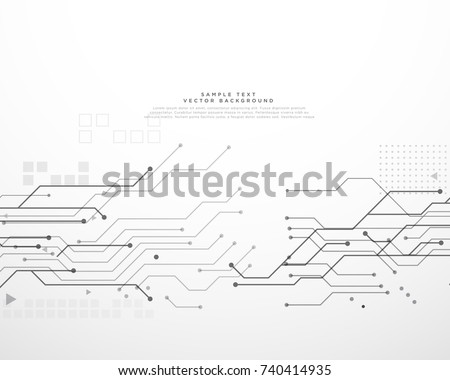 Free Circuit Vector Different Types Of Boards Isolated On A White Background Technology Board With Dynamic Lines