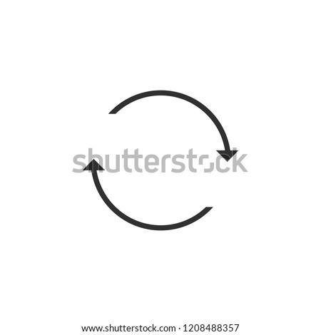technology, climate, ventilation, circulate, arrow, circular, vector icon, illustration