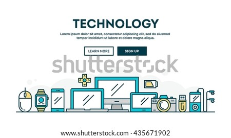 technology  colorful concept