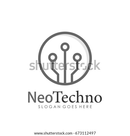 Technology, computer and data related template logo design