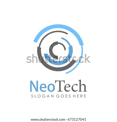 Technology, computer, data and innovation logo design