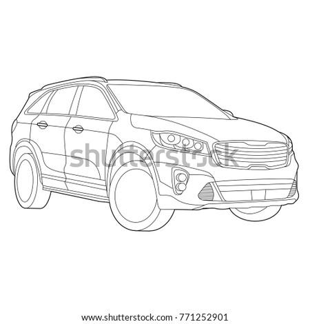 Technology concept, Car details, Line art, Vector illustration, Car set, Transport illustration, Car illustration, Car, Automobile, Vector Illustration, Transportation icons, Technology icon