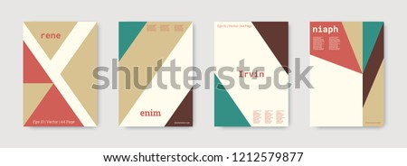 Technology cover design. Minimal vector geometric. Shapes patterns. Triangle design template.Nude, gold, white, bright business concept. Colorful set of vector. Cool technology cover design.