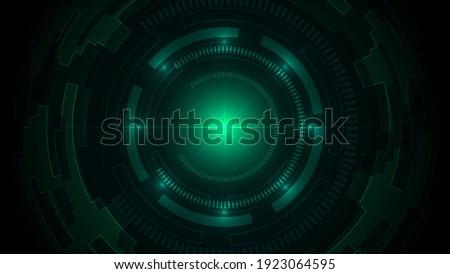 technology dark green