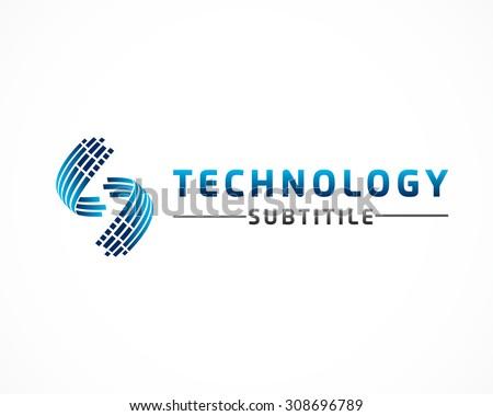 technology data concept logo