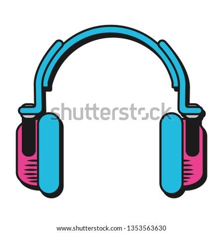 technology earphones cartoon