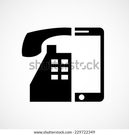 technology evolution, old versus new, phone vector icon