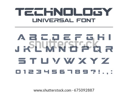 technology font geometric