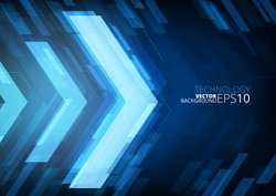 Technology future arrows abstract vector background, with copy space