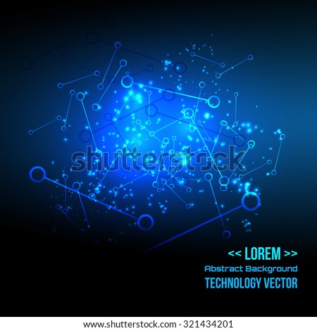 Technology futuristic digital background, Vector illustration