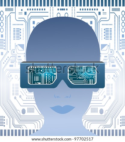 Technology glasses and  circuit board