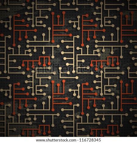 technology grunge pattern