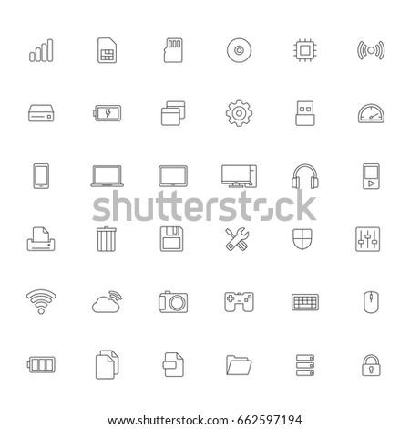 Technology icon on White background Vector illustrator.