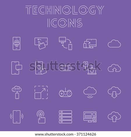 Technology icon set.