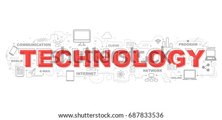 Technology icons for education illustration graphic design.vector