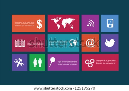 Technology icons over blue background vector illustration