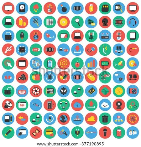 Technology icons set.
