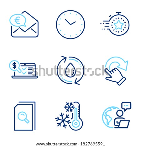 technology icons set included