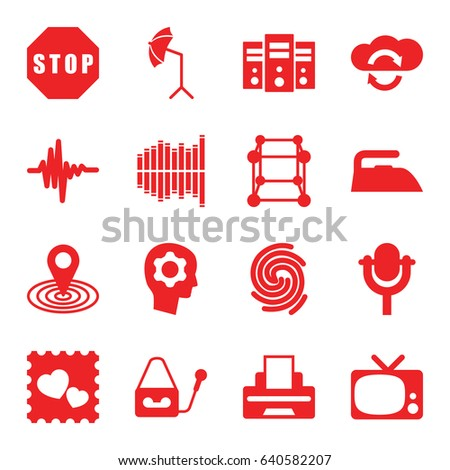 technology icons set set of 16