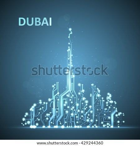 technology image of dubai the