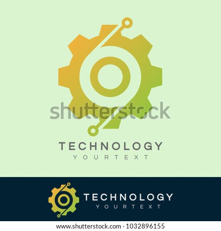 technology initial Letter O Logo design