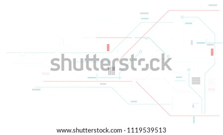 technology line and elements graphic vector background #1119539513