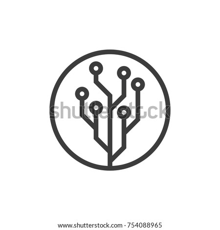 Technology line icon. Vector
